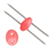 Twin 2-hole Bead 2.5x5mm Dark Pink Dyed